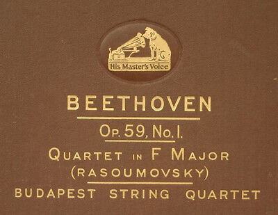 "BUDAPEST STRING QUARTET Beethoven: Quartet in F Major ""Rasoumovsky"" Op. 59  A301"