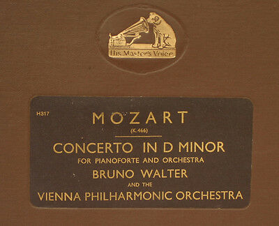BRUNO WALTER -PIANO- & VIENNA PHILHARM.ORCH. Mozart: Concerto in D Minor  A296
