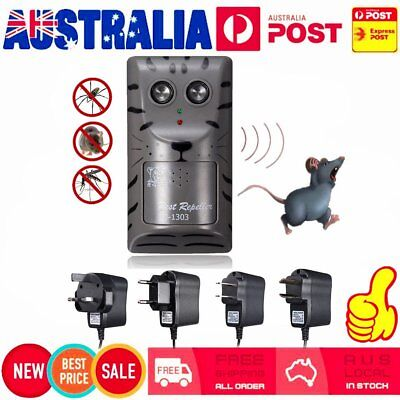 Pest Repeller Ultrasonic Electronic Mouse Rat Mosquito Insect Rodent Control AU&