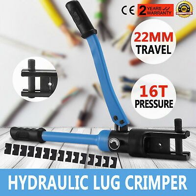 16 Ton Hydraulic Wire Terminal Crimper W/dies Heavy Duty Cable Wire Promotion
