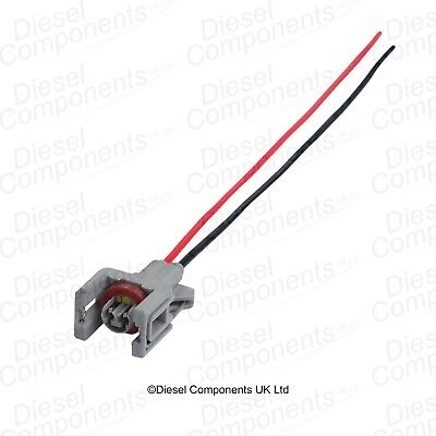 Diesel Injector Connector Plug 2 Way Pre-Wired for Renault Delphi Injectors