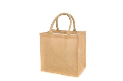 Jute Hessian Eco Reusable Shopping Bag Wholesale 3 Sizes and 5 Colours Available