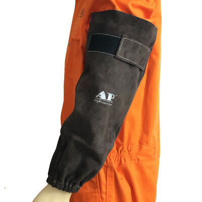 "AP-9109 19"" Long Fire & Heat Resistant Cowhide Leather Welding Safety Sleeves"