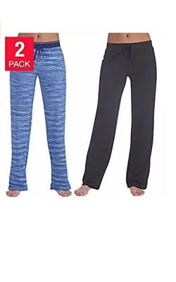 Karen Neuburger Ladies/' Pajama Lounge Pants 2-Pack S Blue Thin Stripe//Black