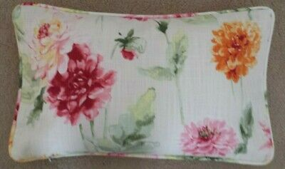 Handmade Cushion Cover in Laura Ashley Dahlia Parade Pink Grapefruit