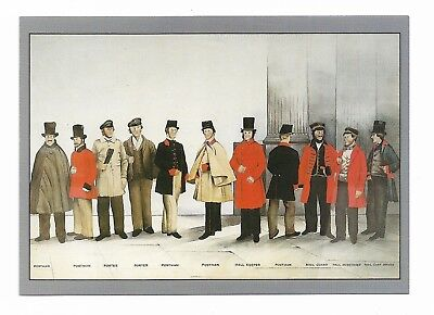 UNIFORMS OF LONDON POSTAL SERVICE  Post Office Archives Postcard 972D