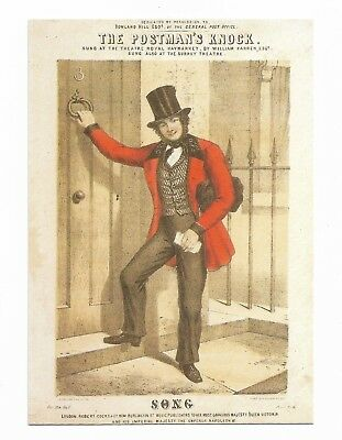 LATE 1850's LETTER CARRIER POSTMAN -  Modern Post Office Archives Postcard 974D