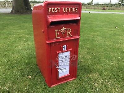 ER Royal Mail Pillar Large Red Post Letter Mail Box Cast Iron