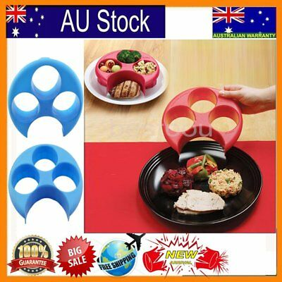 Meal Measure - Perfect Portion Control Plate - Diet, Weightloss, Slimming New &@