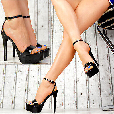 Neu Designer Damenschuhe Sexy High Heels LACK Party Pumps Sandalen Stilettos