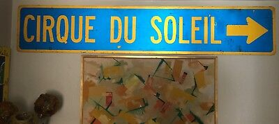 CIRQUE DU SOLEIL 9 Foot Metal Road Sign Display Bar Circus Barnum