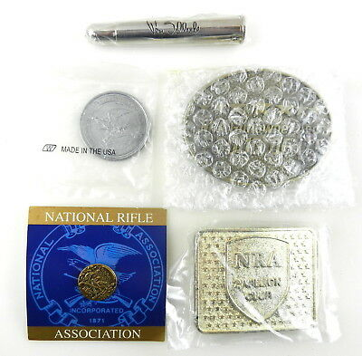 """NRA National Rifle Association Lot of 4 Conchos with Screws 1 3//4/"""" wide"""