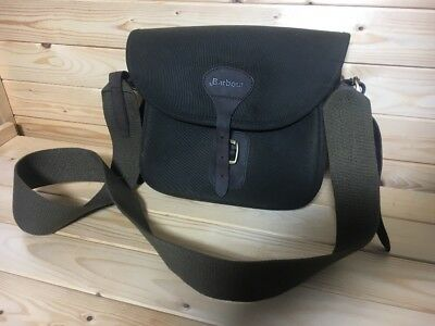 TOP QUALITY WAX Leather Barbour Cartridge Bag Hunting Shooting ...