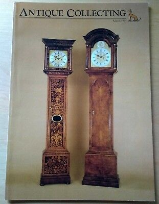 ANTIQUE COLLECTING March 1995. Marine chronometers, barometers, longcase clocks