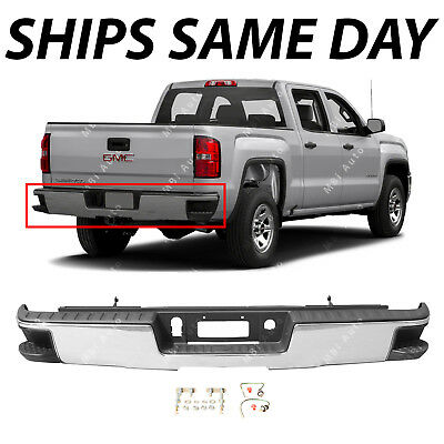 NEW Chrome Bumper Assembly for 2014-2018 Silverado Sierra 1500 W/ Corner Steps