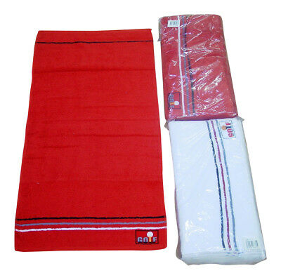 Golf Embroidered Hand Towel 50cm x 100cm - 100% Cotton Available in Red or White
