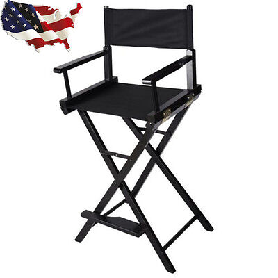 Professional Wooden Makeup Artist Foldable Comestic Directors Chair Stool Seat