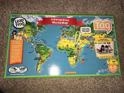 Leapfrog tag interactive world map 2 sided learning path leap frog leapfrog tag interactive world map 2 sided learning path leap frog brand new gumiabroncs Image collections