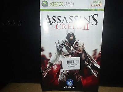 Manual For Xbox 360 Assassins Creed 2,   No Game, Just The Manual !!!!!!!!!!