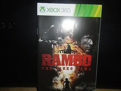 Manual For Xbox 360 Rambo,   No Game, Just The Manual !!!!!!