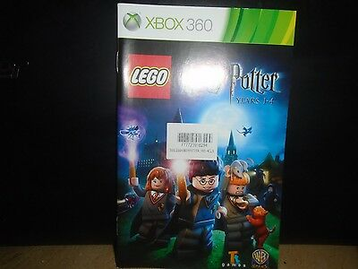 Manual For Xbox 360 Harry Potter Lego,  No Game , Just The Manual !!!!!!!!!,