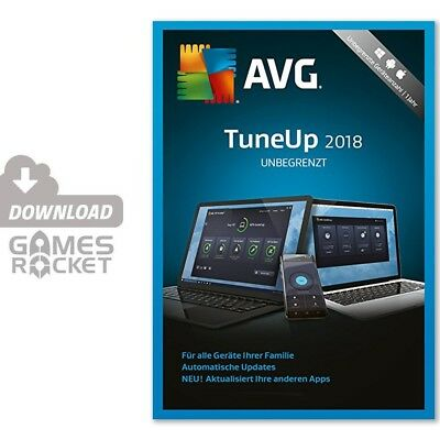 AVG TuneUp Unlimited 2018 - 2 Jahre - offizieller Download Code Key   PC / MAC