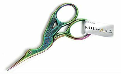 Rainbow Stork Embroidery needlecraft Scissors Milward sharp pointed 9cm long