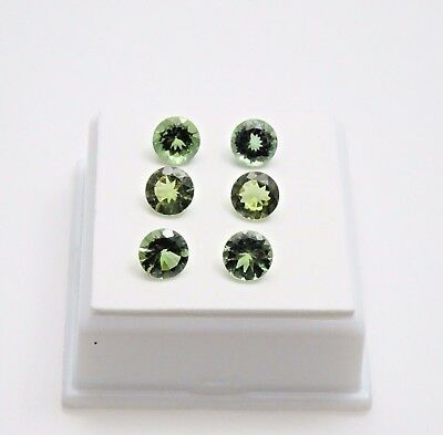 Set of 6 Green Apatite - 5.0 TCW - 6mm - Round - 6 Apatite Loose Gemstones