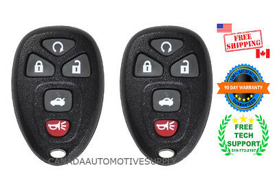 2 New Replacement Keyless Remote Control Key Fob For GM Chevy 22733524 KOBGT04A