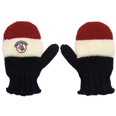 Moncler Baby Knitted Stripe Mittens 3-9 Months