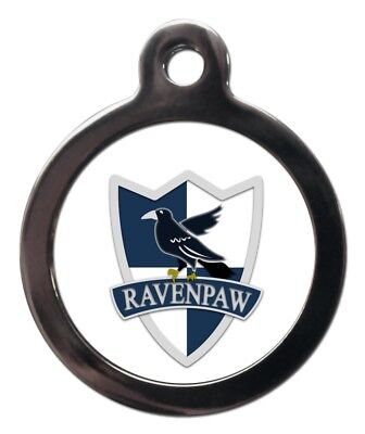 Ravenpaw Pet ID Tags Personalised Ravenclaw Harry Potter Style Dog Cat ID Tags