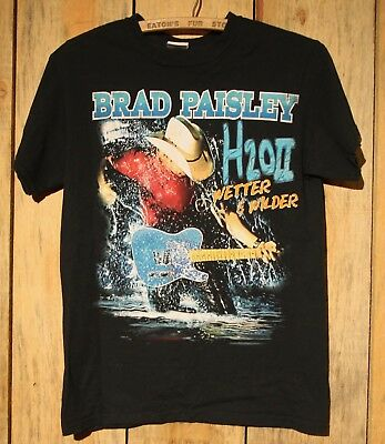 BRAD PAISLEY H2O Frozen Over Shirt Size S - 2011 Concert Tour Country Band +