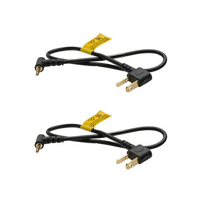 PocketWizard 804-403 MH1 16-Inch Straight Household to Miniphone Cable, 2-Pack