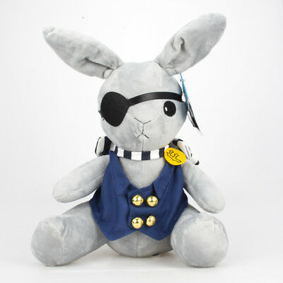 Anime Kuroshitsuji Black Butler Ciel Phantomhive Rabbit Plush Soft Doll Toy 30cm