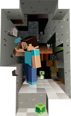 WALL STICKERS Minecraft Steve sticker to the room
