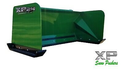 5' Low Pro John Deere snow pusher box LOCAL PICK UP-RTR tractor loader snow plow