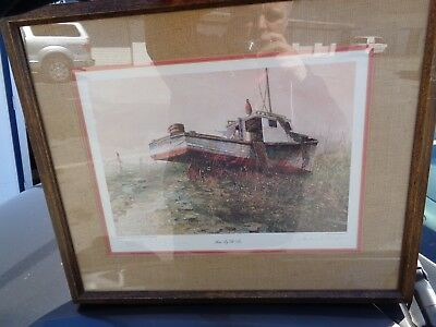 RARE ARTIST PROOF Hubert Shuptrine Pencil Signed Framed Matted Home By The Sea