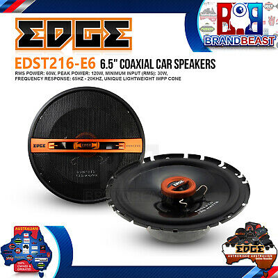 "Edge Street EDST216-E6 6.5"" 120w Car Audio 2 Way Coaxial Coax Speaker System"