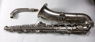 CG Conn C Melody saxophone Silver & Gold 100% New case EXCELLENT and BEAUTIFUL