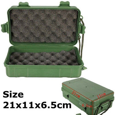 HK- Shockproof Waterproof Airtight Survival Storage Case Container Carry Box Flo