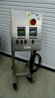 Cybertherm 240 Volt 2 Zone Temperature Controller In Stainless Steel Enclosure