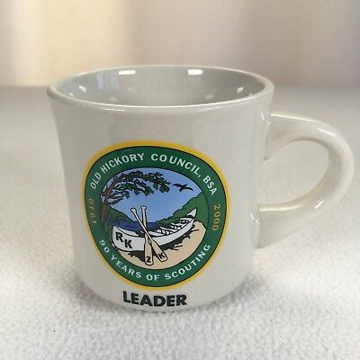 """Boy Scouting Coffee Mug Old Hickory Council Leader 1910 2000 90 Year Cup 3.5"""""""
