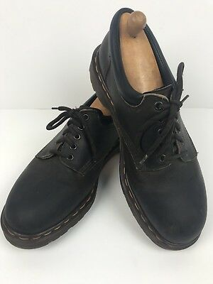 DR. MARTENS The Original Brown Leather Lace Up Shoes Air Cushion Soles 10