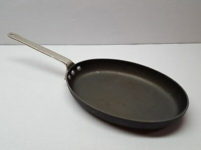 "Calphalon Commercial Hard Anodized Aluminum Oval Pan Fish Pan Skillet 12"" X 8"""