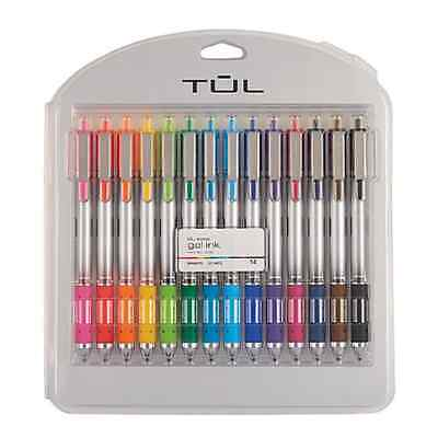 TUL Retractable Gel Pens, Bullet Point, 0.7 mm, Gray Barrel, Assorted Colors
