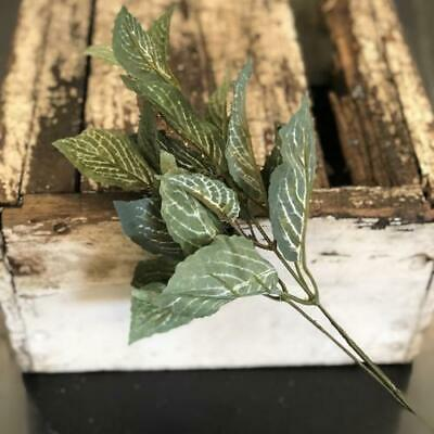 Artificial Silk Greenery Fittonia Leaf Spray Stem