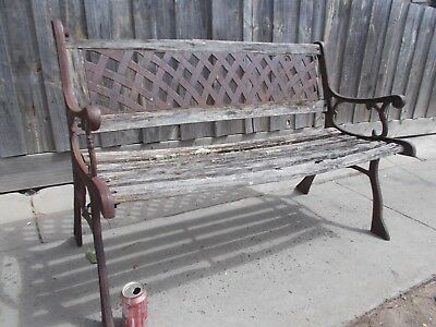 Cast Iron Garden Seat Bench Seat (Project)
