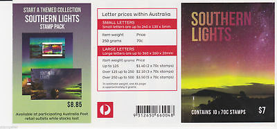 2014 Australian Stamps - Southern Lights  - MNH P&S Booklet of 10 x 70c stamps
