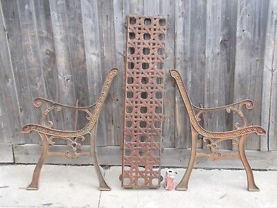 Vintage Garden Seat Ends Cast Iron Bench Seat Ends (Project)