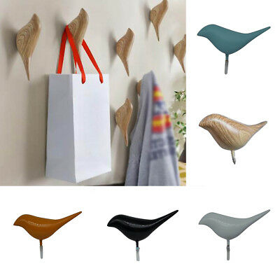 Creative 3D Bird Shape Coat Hat Clothes Hanger Wall Mounted Hook Home Decor Deft